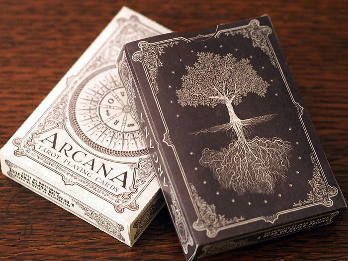 Arcana Playing Cards (Light & Dark versions), tarot themed standard deck with additional marjor arcana cards (Tower, The Lovers, The Fool, and Death) by Chris Ovdiyenko — Kickstarter