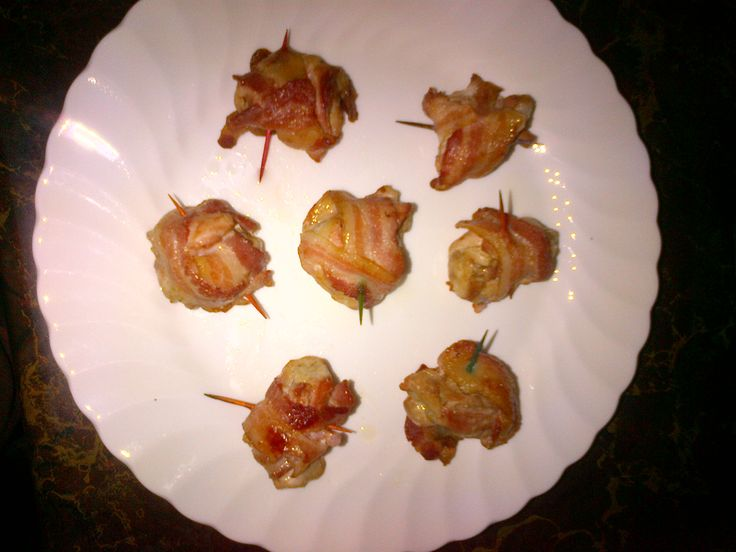 Bacon Wrapped Chicken Bites Yum
