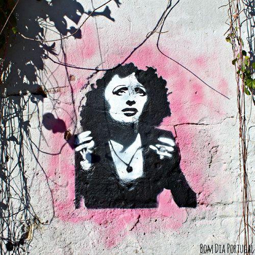Street Art Lisboa, Portugal #lisbonne #art #street #fado #amalia #saudade - Bom Dia Portugal