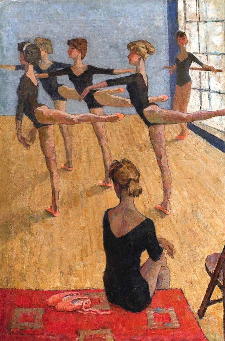 Талашенко Владимир Иванович (1915)  «Урок хореографии», 1967 г.