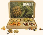 graze box. a box of healthy snacks delivered by mail. i love this concept.