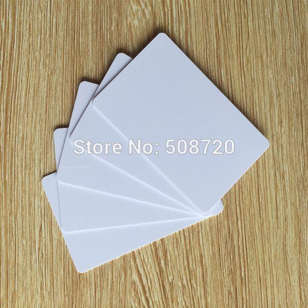 10 adet/grup RFID 125 KHZ boş beyaz kartları yazılabilir rewrite Em4305 kartları