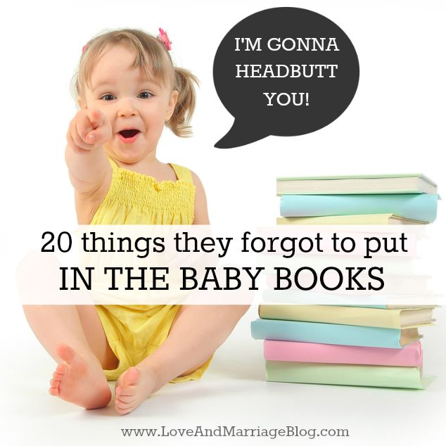 20 Things They Forgot to Put In The Baby Books #parenting
