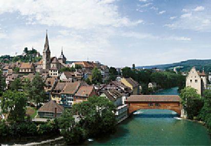 I have walked across this bridge- Baden, Switzerland.