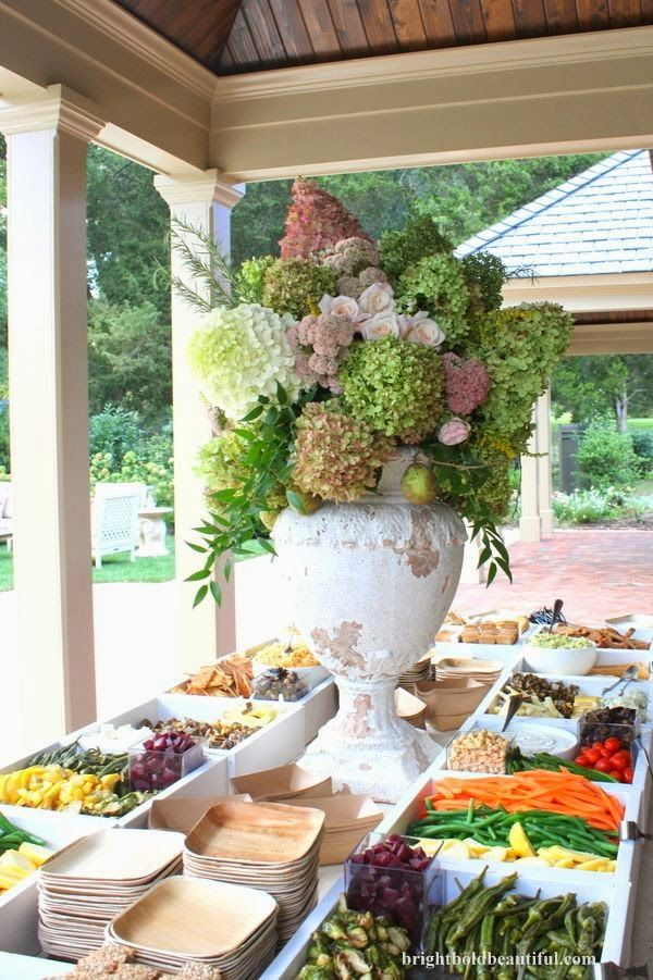 Great idea for a summer buffet - Summer Entertaining Tips at Hadley Court
