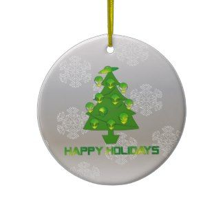 Alien Holiday Tree Christmas Tree Ornament