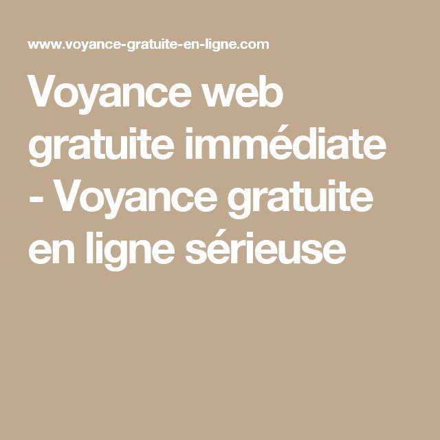 Voyance web gratuite immédiate - Voyance gratuite en ligne sérieuse