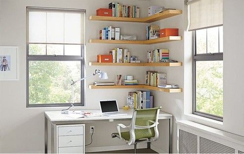 Float Wood Wall Shelves Office by R - modern - home office - other metro - Room & Board