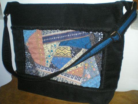 Crazy patchwork női táskán, Táska, Válltáska, oldaltáska, Meska