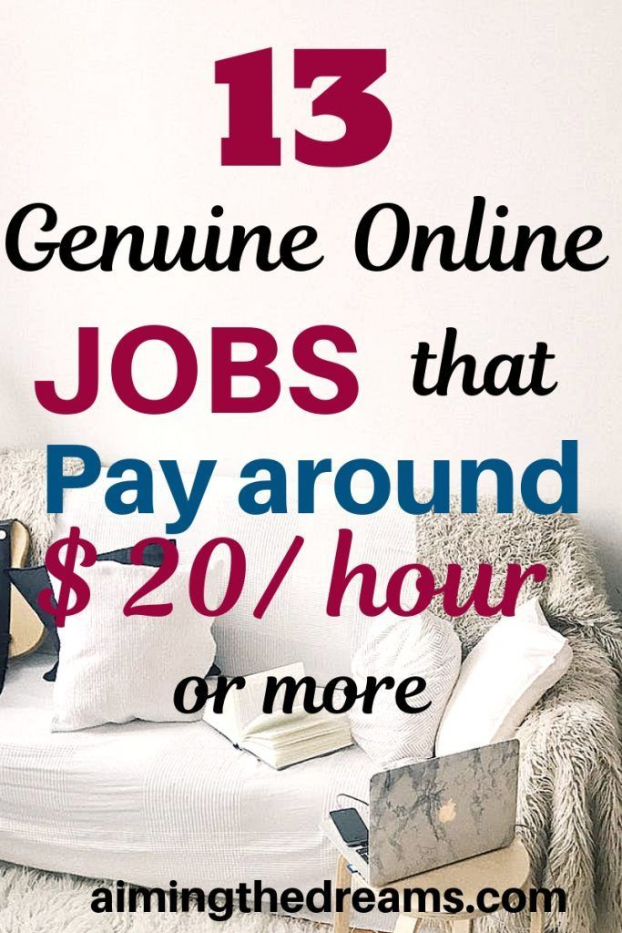 13 genuine online jobs that pay $20 an hour or more – Charyl McGarvey