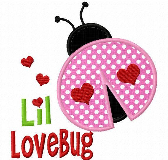 Little LoveBug Applique Machine Embroidery by LovelyStitchesDesign, $2.99
