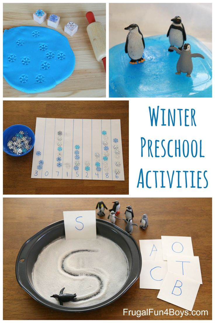Winter Themed Learning Activities for Preschoolers - Writing, Counting, Fine Motor, Science Activities, Sensory Play