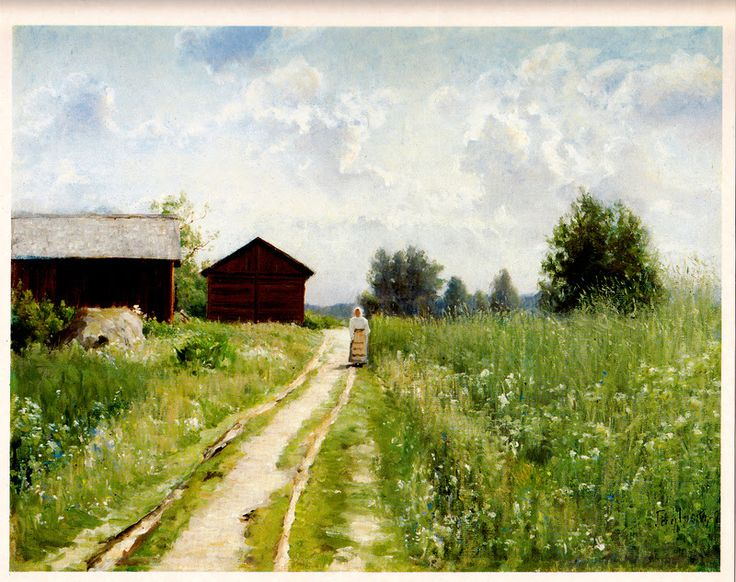 Kuva albumissa HJALMAR MUNSTERHJELM - Google Kuvat.  Maisema Tuuloksesta, iso kuva (A4).