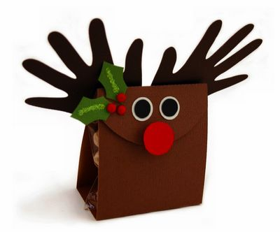 Christmas crafts: Gift Bags, Goodies Bags, Treats Bags, Gifts Bags, Christmas Crafts, Neighbor Gifts, Christmas Ideas, Reindeer Gifts, Christmas Gifts