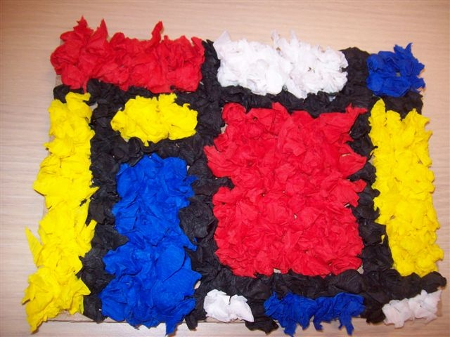 Mondrian amb paper de seda