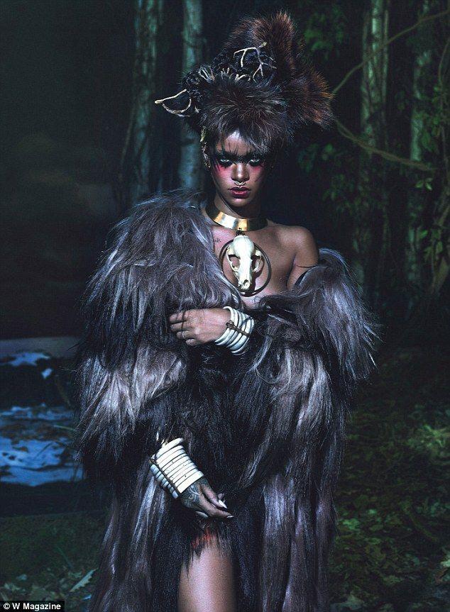Really wild! Rihanna, 26, explored her dark side in a shoot for September's W Magazine