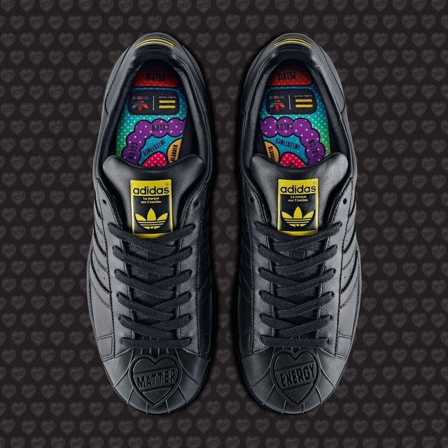 dd58365539499 adidas Pharrell Supershell Superstar Shoes - Black