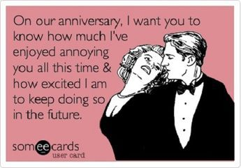 funny anniversary messages for husband