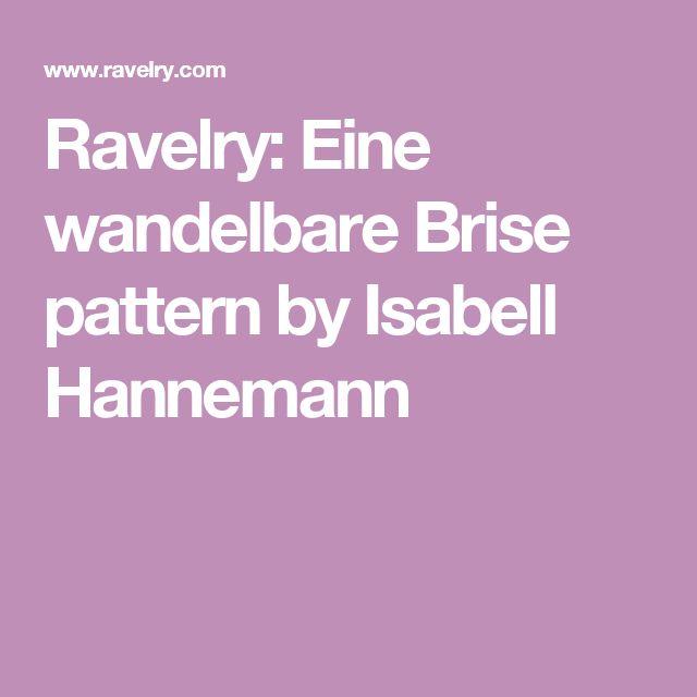 Ravelry: Eine wandelbare Brise pattern by Isabell Hannemann