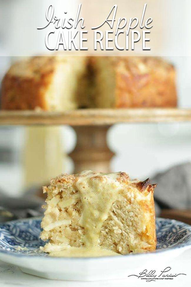 Irish Apple Cake Recipe With Vanilla Custard Sauce Recipe Apple Cake Recipes Irish Apple Cake Irish Dessert Recipes