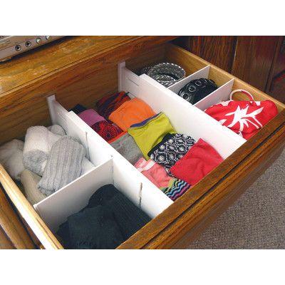 Axis International 5 Piece Plastic Dresser Drawer Divider Set | Wayfair