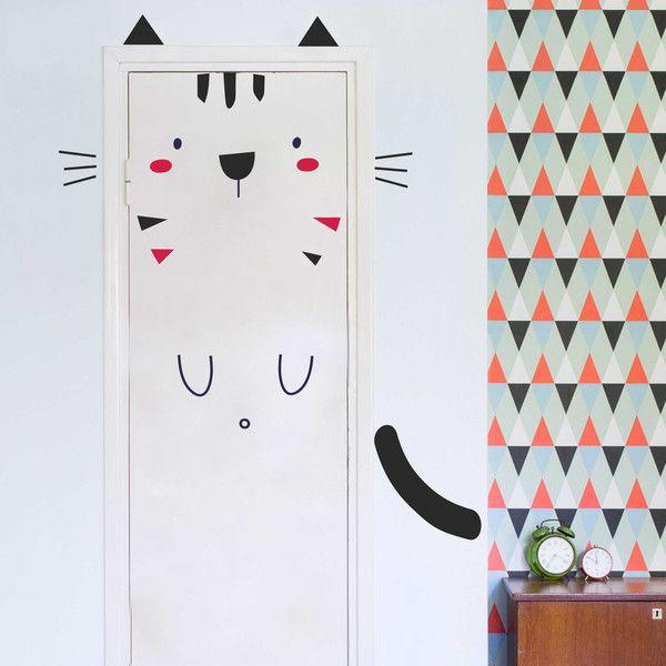 Kinderzimmerdekoration - Exklusive Wandtattoo Kinderzimmer | Katze Tommy - ein Designerstück von taia-s bei DaWanda