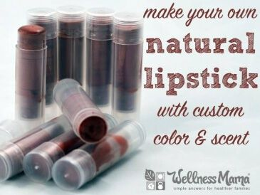 How to Make Your Own Natural Lipstick with custom color and scent 365x274 Natural Shimmer Lipstick Recipe