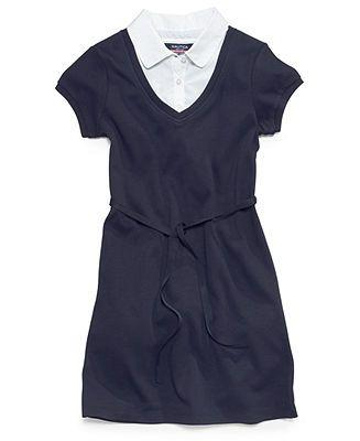 Nautica Kids Dress, Little Girls Uniform Layered Look - Kids School Uniforms - Macy's