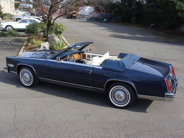 BEAUTIFUL, BEAUTIFUL AND EXTREMELY RARE 1985 Cadillac Eldorado Biarritz Cionvertible Special Commemorative Edition in Commodore Blue paint - Most rare Cadillac of the 1980's and NOT even mentioned in dealer sales brochure - by special request only. ONLY LIMITED 100 MADE!! Owned by collector in Rancho Mirage, California.