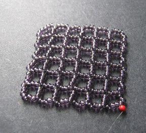 Square Openwork Right Angle Weave