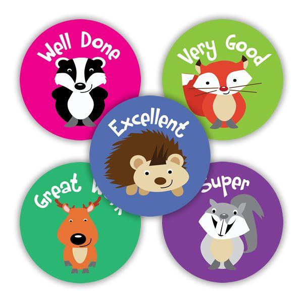 British Animals Variety Stickers. 125 stickers per pack