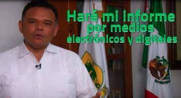 El goberrnador de Yucatán, Rolando Zapata Bello, anunció cambios drásticos en la forma de comunicar el IV Informe de Gobierno: lo hará vía internet y redes sociales virtuales.