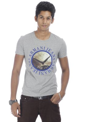 ARMANI JEANS Branded White,Gray T-Shirts Collection