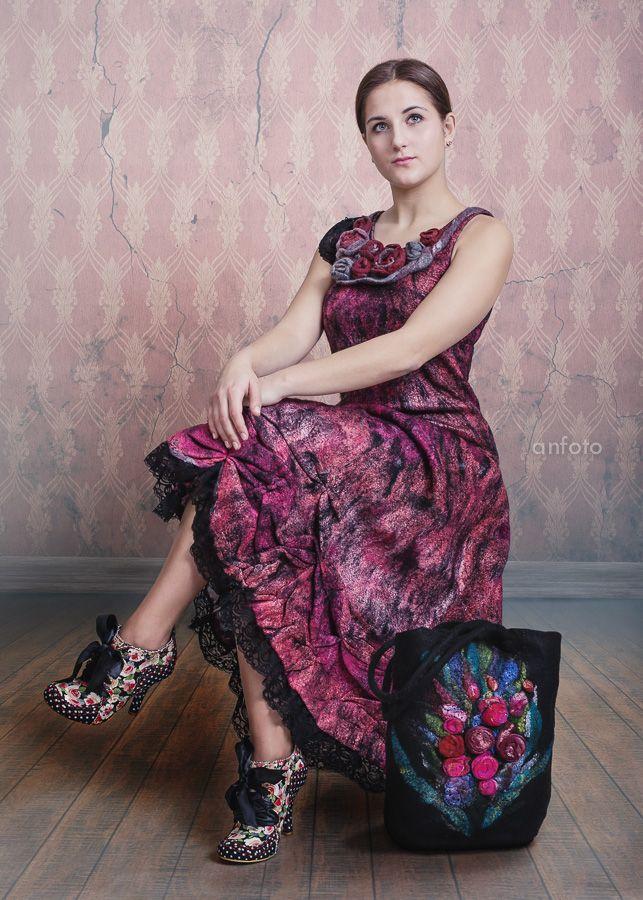 """Felted dress """"Rose"""""""