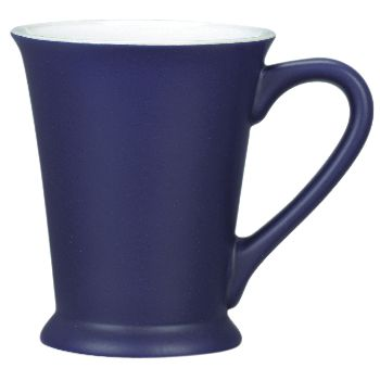 VERONA MUG  Price includes 1 color, 1 position print   2 Color imprint available for an additional charge  This stylish coffee mug (also known as the Valencia) is well designed with a footed base for extra stability.  Available in many colours, including 2 tone variations.  Height: 109mm  Width: 94mm  Capacity: 320mm