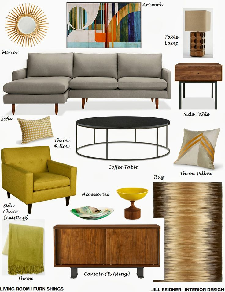 Beautiful Interior Design Concept Board With Residence Online Project Living Room Furnishings