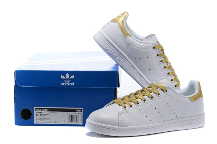 Adidas Originals Stan Smith White Gold S78545 http://www.adboostsaleb.com