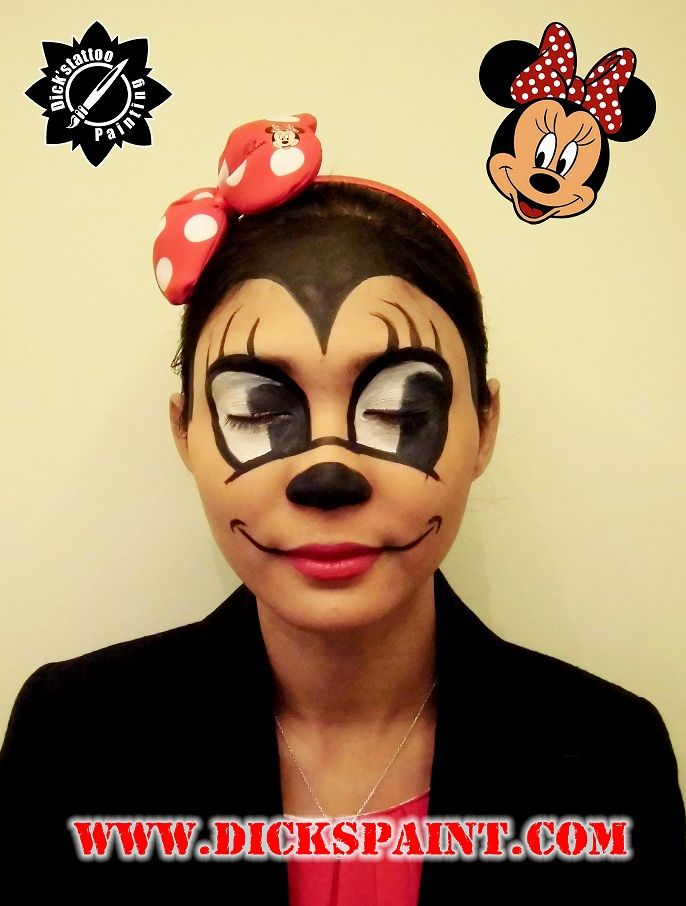 1000 images about minie mouse face painting on pinterest. Black Bedroom Furniture Sets. Home Design Ideas