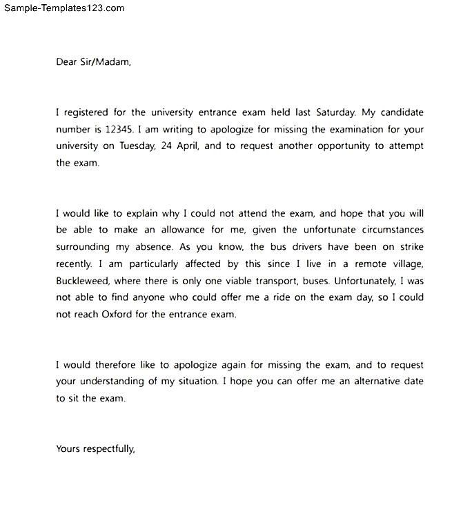 Formal Apology Letter for Not Attending an Event | Sample ...