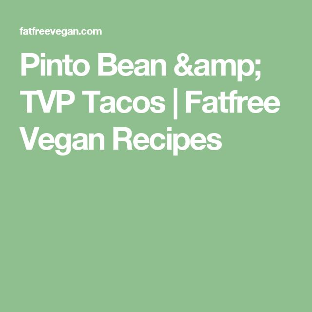 Easy vegan tvp recipes