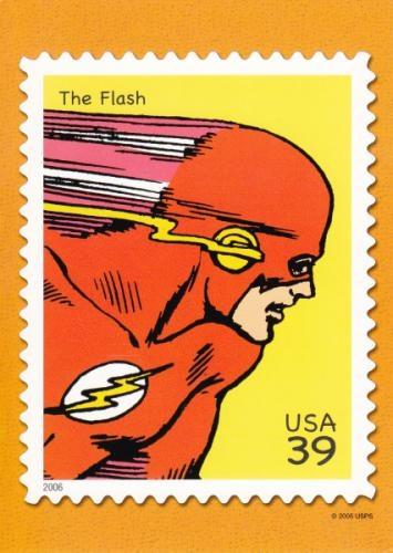 The Flash USA stamp postcard