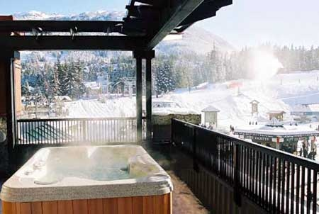 Private hot tub at the Sundial Boutique Hotel - Whistler
