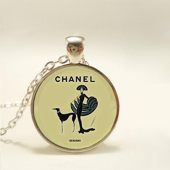 Vintage Chanel  Advertisement  Pendant