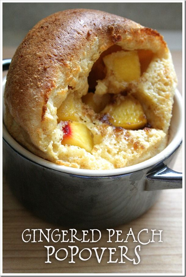 Gingered Peach Popovers with White Chocolate Cream Cheese ...