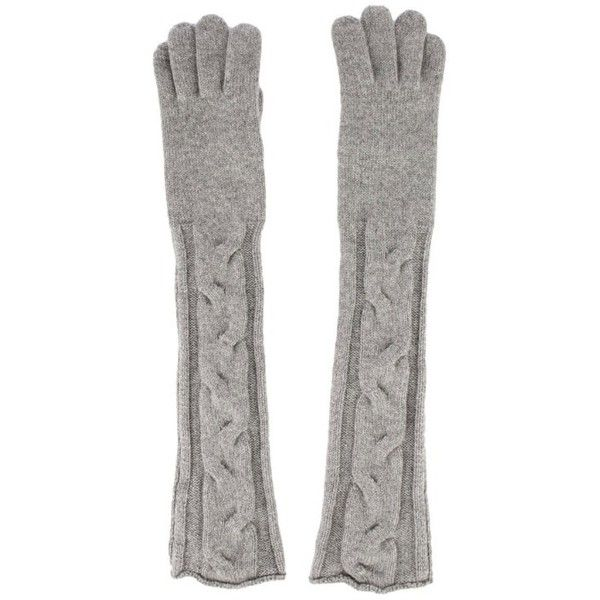 Loro Piana Cashmere Gloves found on Polyvore