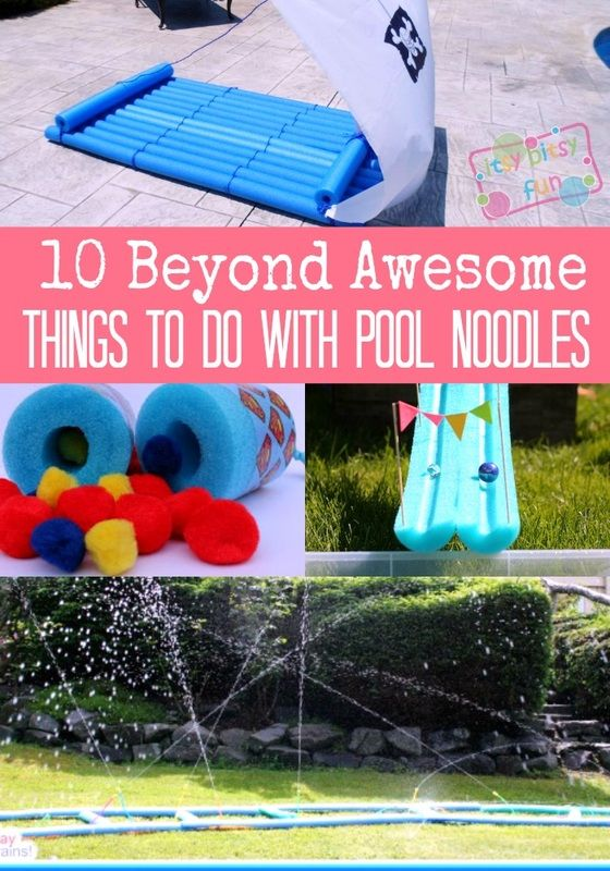 10 Beyond Awesome Crafts and Activity Ideas to Do With Pool NoodlesAwesome Crafts, Pool Noodles, Pirates Rafting, Pools Noodles, Itsy Bitsy, Bitsy Fun, Summer Fun, Pom Pom, Activities Ideas