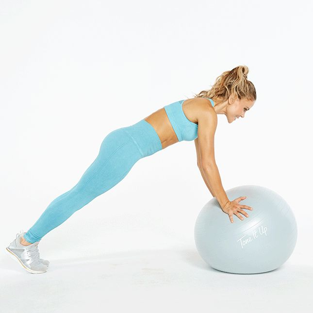 The Tone It Up girls give us five of the best stability ball workouts for a toned core. Learn the easy moves that are perfect for beginners here.