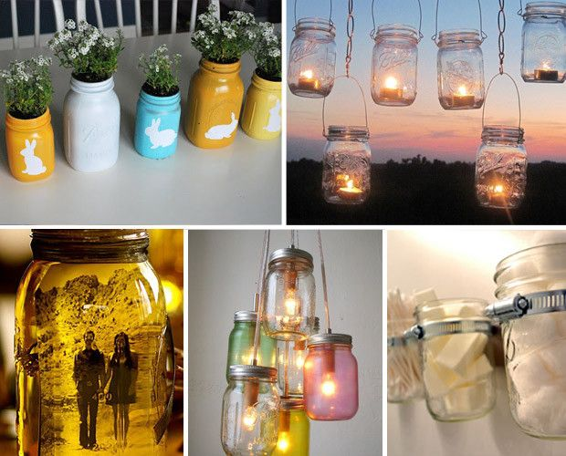 15 Mason Jar DIY Craft Ideas: Masons, Jars Diy, Crafts Ideas, Diy Crafts, Mason Jar Crafts, Jars Ideas, Mason Jars Crafts, Craft Ideas, 15 Mason
