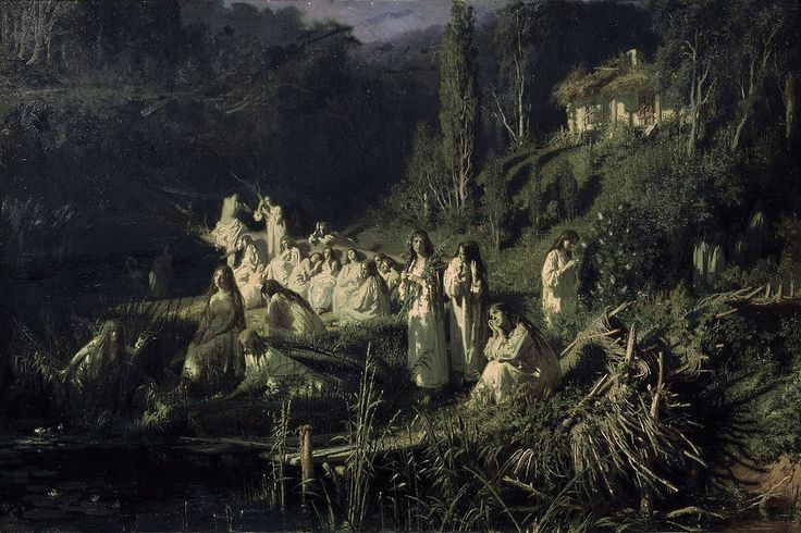 КРАМСКОЙ Иван Николаевич (1837-1887) «Русалки». 1871 г.