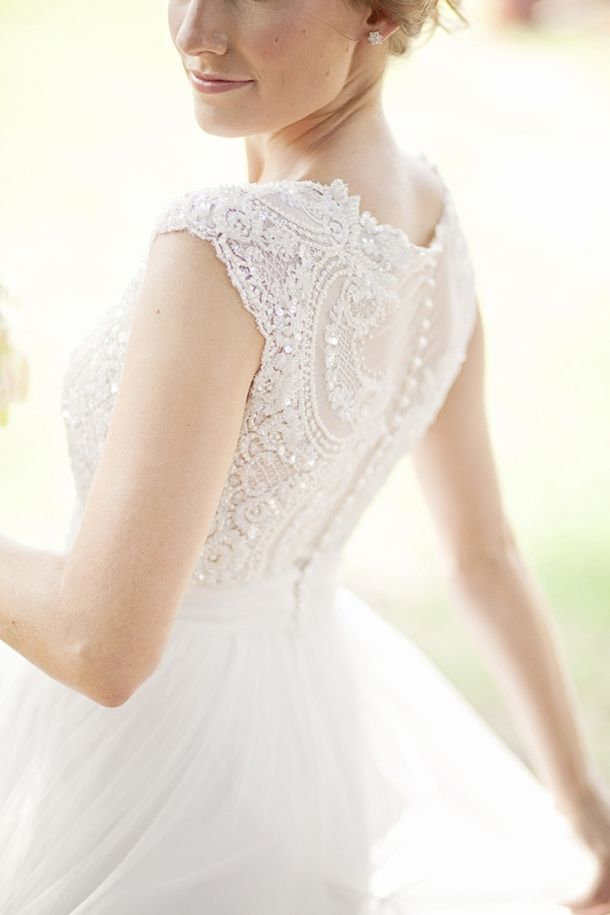 How fun that the lace on the back is more decorative!